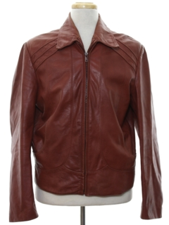1970's Mens Fight Club Style Leather Jacket