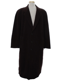 1980's Mens Designer Armani Italian Wool Overcoat Jacket