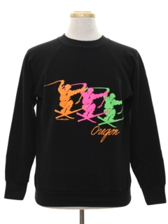 1980's Mens Totally 80s Ski Sweatshirt