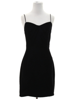 1980's Womens Totally 80s Velvet Mini Wiggle Prom or Cocktail Dress