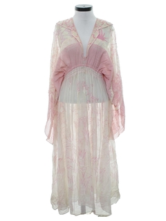 1970's Womens Designer Caftan Dress