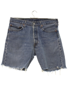 1990's Mens Cut Off Levis 501 Denim Jeans Shorts