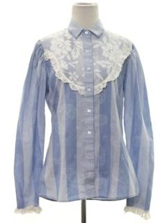 1980's Womens Prairie Style Hippie Shirt