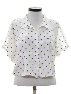 1980's Womens Totally 80s Short Cropped Shirt