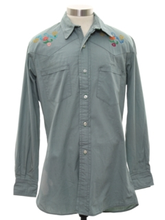 1960's Mens Western Hippie Shirt