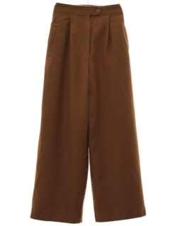 1980's Womens Wide Leg Wool Pants