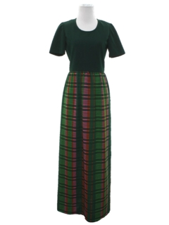 1970's Womens Knit Maxi Dress