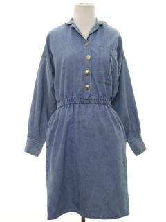 1980's Womens Denim Dress