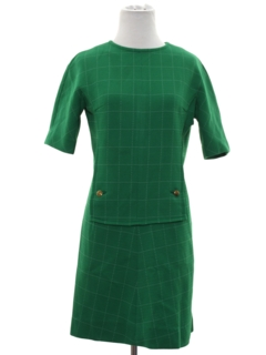 1960's Womens Mod Knit Mini Dress