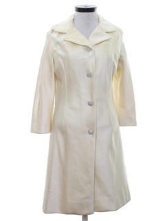 1960's Womens Mod Satin Evening Coat Jacket