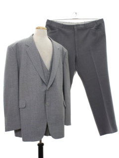 1970's Mens Three Piece Combo Suit