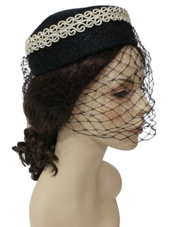 1950's Womens Accessories - Pill Box Hat