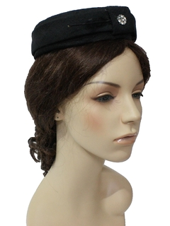 1960's Womens Accessories - Pill Box Hat