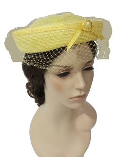 1960's Womens Accessories - Bowl Hat
