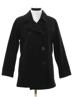 1980's Womens Wool Pea Coat Jacket