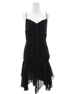 1990's Womens Wicked 90s Flapper Inspired Mini Prom Or Cocktail Dress
