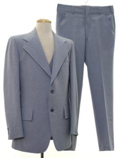 1970's Mens 3 Piece Disco Suit