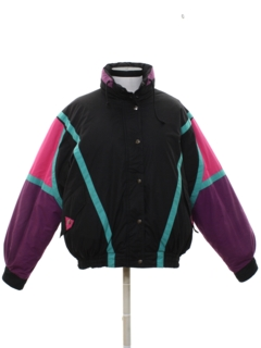 1980's Womens Totally 80s Style Ski Jacket