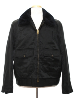 1980's Mens Work Zip Police Style Jacket