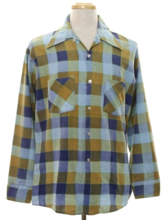 1960's Mens Mod Flannel Shirt