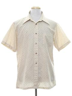 1970's Mens Subtle Print Sport Shirt