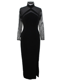 1980's Womens Cocktail Wiggle Dress