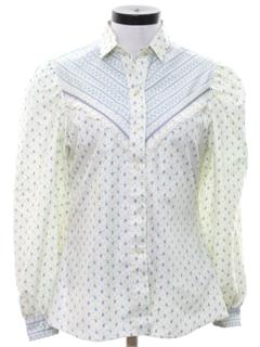 1980's Womens Western Style Prairie Shirt