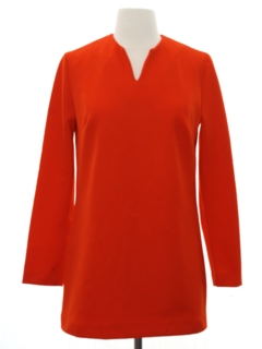 1960's Womens Mod A-Line Knit Mini Dress
