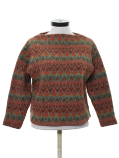 1960's Womens Mod Wool Sweater