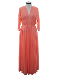 1970's Womens Maxi Disco Dress