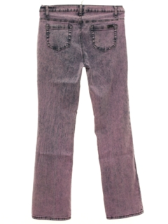 1990's Womens Boot Cut Flared Leg Denim Over Dyed Jeans Pants