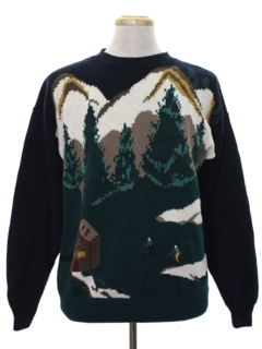 1990's Mens Intarsia Knit Sweater