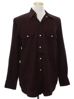 1940's Mens Gabardine Western Shirt