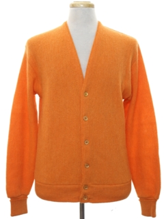 1960's Mens Mod Cardigan Golf Sweater