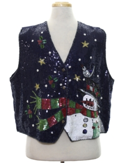 1980's Unisex Ugly Christmas Non-Sweater Vest