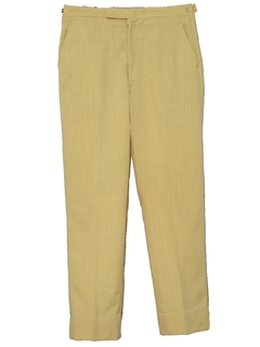 1960's Mens Flat Front Mod Slacks Pants