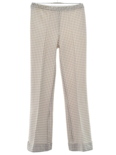 1970's Womens Flared Knit Leisure Pants