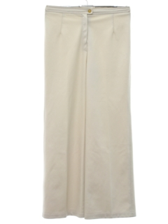 1970's Womens Flared Knit Wide Leg Pants