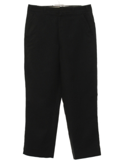 1950's Mens Mod Flat Front Wool Slacks Pants