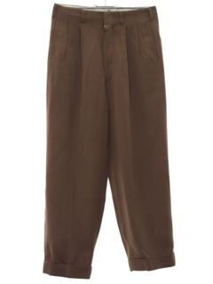 1940's Mens/Boys Pleated Gabardine Slacks Pants