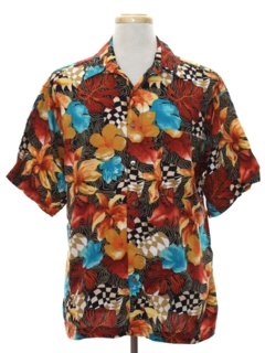 1990's Mens Wicked 90s Rayon Shirt
