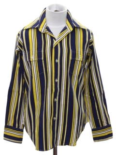1970's Mens/Boys Striped Shirt