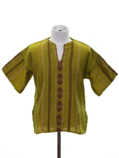 1970's Unisex/Childs Guatemalan Style Hippie Shirt