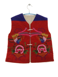 1980's Unisex/Childs Embroidered Hippie Vest