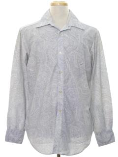 1960's Mens Mod Paisley Hippie Shirt