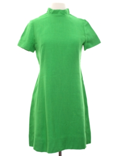 1960's Womens Mod Silk Mini Dress