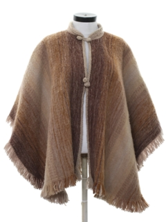 1970's Womens Hippie Poncho Cape Jacket