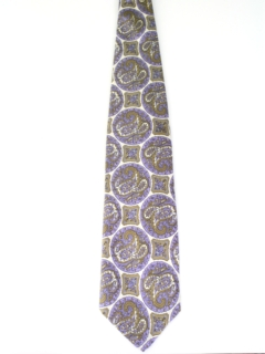 1970's Mens Wide Paisley Disco Necktie