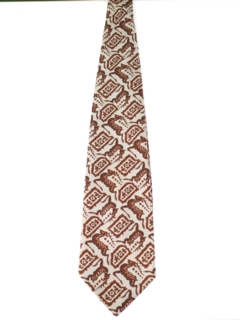 1970's Mens Extra Wide Disco Style Kipper Necktie