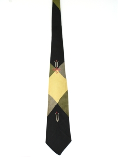1950's Mens Rockabilly Necktie
